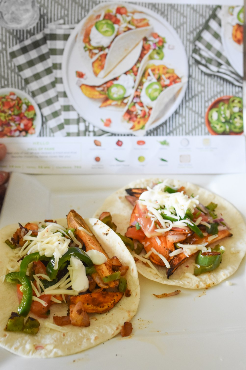 Hello Fresh Sweet Potato Fajitas