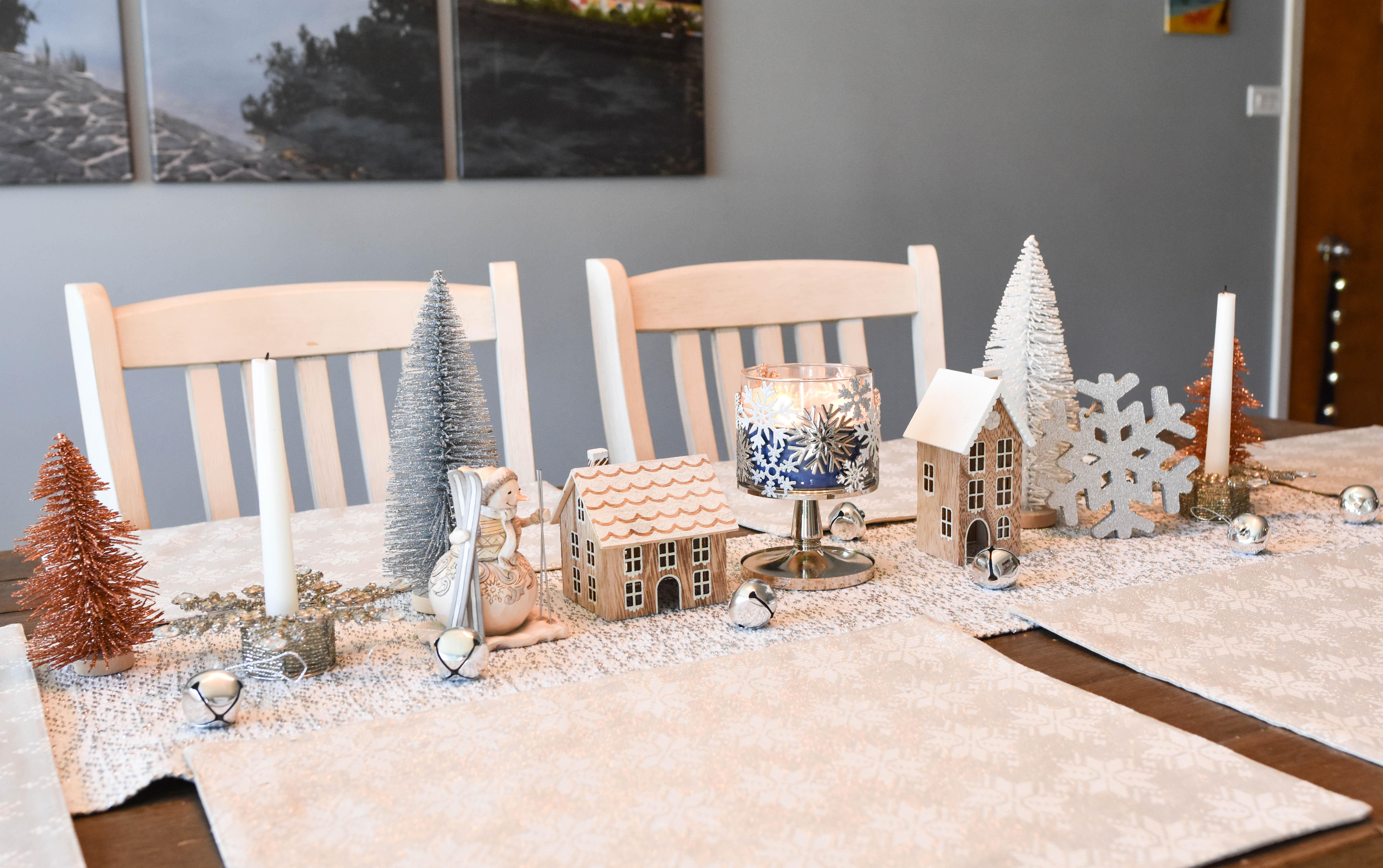 Affordable Winter Wonderland Holiday Tablescape Floradise