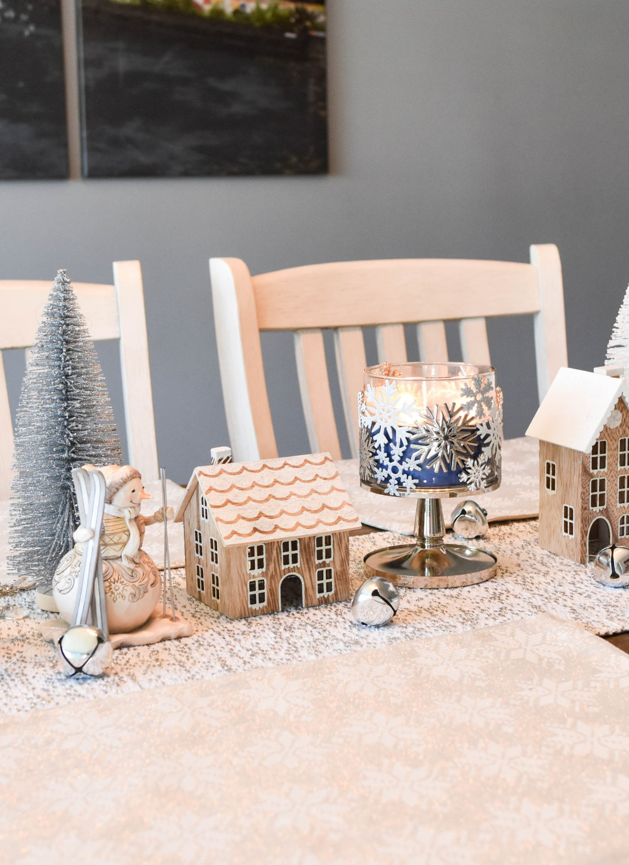 Affordable Winter Wonderland Holiday Tablescape