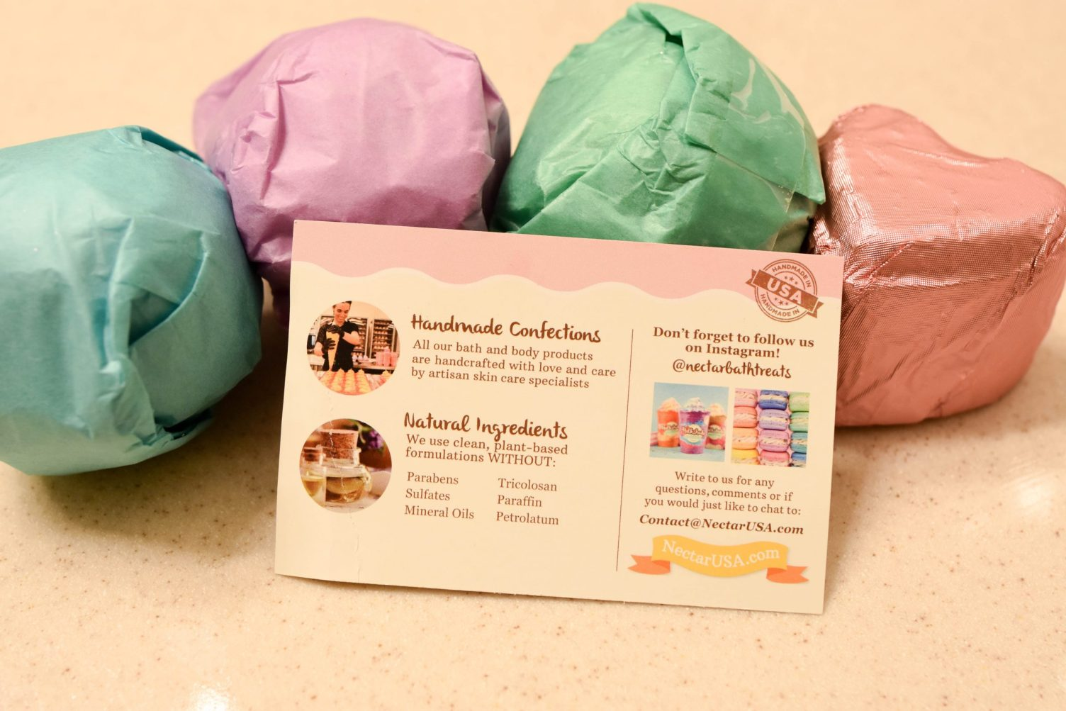 Trying Nectar Bath Treats Bath Bombs
