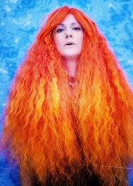 This is my favorite wig, and I love it with the blue background.