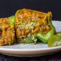 29 days of rice - stuffed tagine peppers - day 17