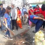 विश्व वातावरण दिवसको अवसरमा धनगडीमा नगर सर–सफाई