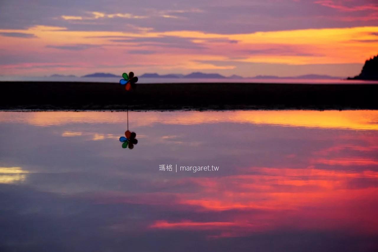 日本天空之鏡。父母濱 夕陽百選。瀨戶內海絕景 潮汐,拍攝,美食,交通資訊(2019.11.4更新) @瑪格。圖寫生活