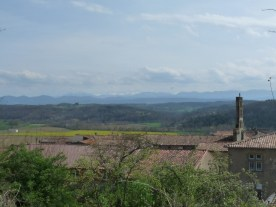 The view from the siute to the distant Pyrenees.