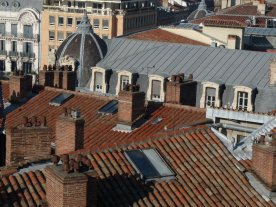 Toulouse roofscape from Lafayette
