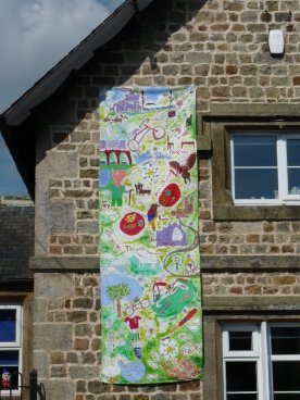 Tour de France banner at the Primary School, North Stainley