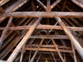 Ancient beams in the Minster.