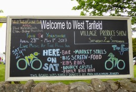 West Tanfield's big notice board.