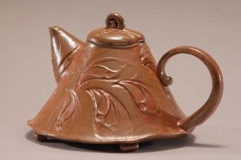 soda fired teapot
