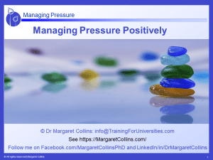 Managing Pressure Positively
