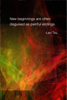 New beginnings are often disguised as painful endings- Lao Tzu Quote -Fractal Painting by Margaret Dill #healing #peace #quote #meditation #fractals #InspirationalQuotes #wordsofwisdom #wordsofncouragement #spiritualquotes
