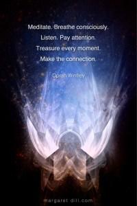 Meditate - Oprah Winfrey #Wisdom #MotivationalQuote #Inspirational Quote #OprahWinfrey #LifeQuotes #LeadershipQuotes #PositiveQuotes #SuccessQuotes