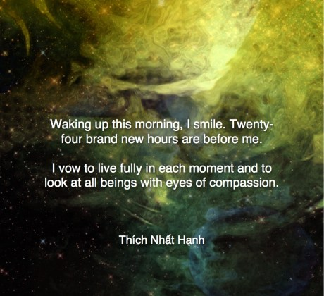 Waking up this morning - Thích Nhat Hạnh #Wisdom #MotivationalQuote #Inspirational Quote #ThichNhatHanh #LifeQuotes #wordstoliveby #PositiveQuotes #mindfulness #meditation