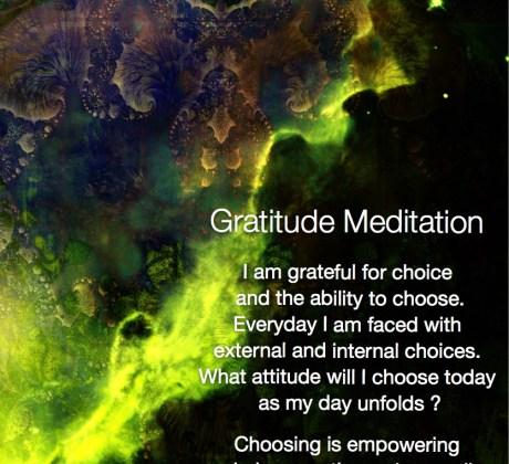 Gratitude Meditation Thankful for Choice #gratitude #meditation #thankful #positive