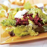 Roast Beets and Goat Cheese Salad