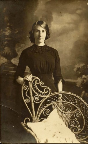 Florence Hicks as a young woman
