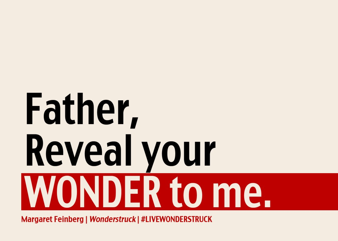 Father Reveal Your Wonder to Me