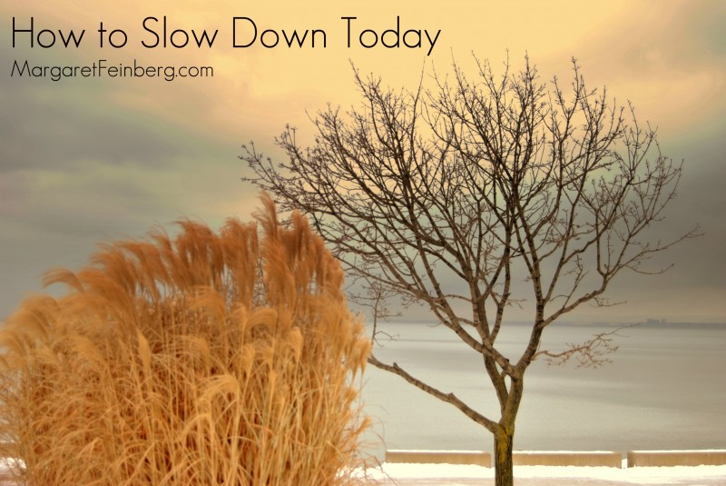 How to Slow Down Today