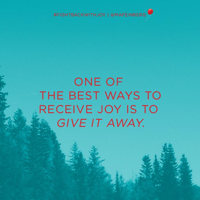 The Best Way To Get Joy
