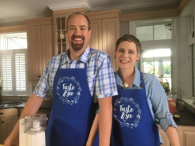 Margaret and Leif Taste and See Aprons