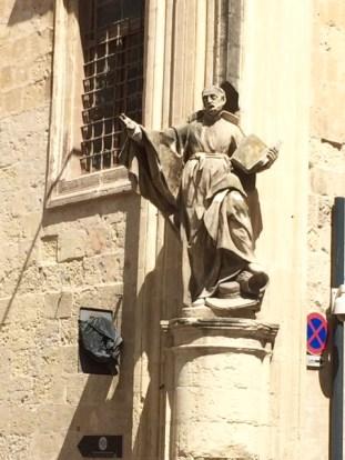 St Ignatius in Valletta, Malta. This guy is everywhere.