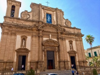 Santa Maria del Soccorso, where we went to mass on Sunday in Sciacca.