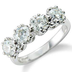 Diamond rings 4 stones jewellery Northern Ireland