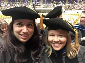Ashley and Margaret at Ashley's PhD hooding ceremony.