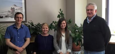 Nicole Braun's successful MS defense. Erik Gulbranson, Margaret, Nicole, John Isbell.