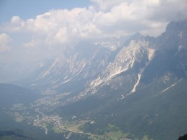Gorgeous view of the Dolomites from a field site.