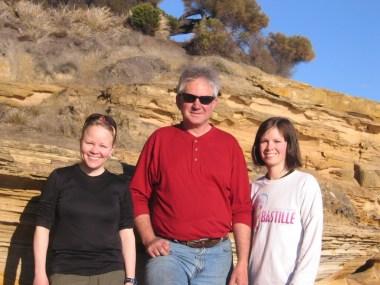 Margaret, John Isbell, & Lindsey Henry on Maria Island, Tasmania, Australia.