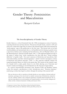 First page of Gender Theory: Femininities and Masculinities