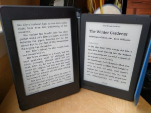Kindle Paperwhite and Kobo Aura