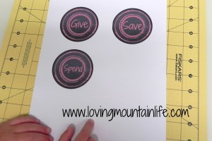 Give Save Spend Labels | Loving Mountain Life