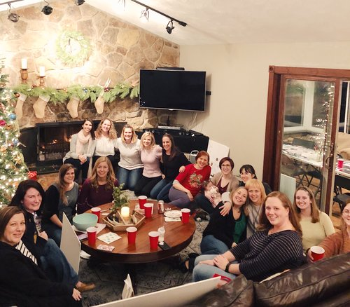We had a girls night and all of us made vision boards together!
