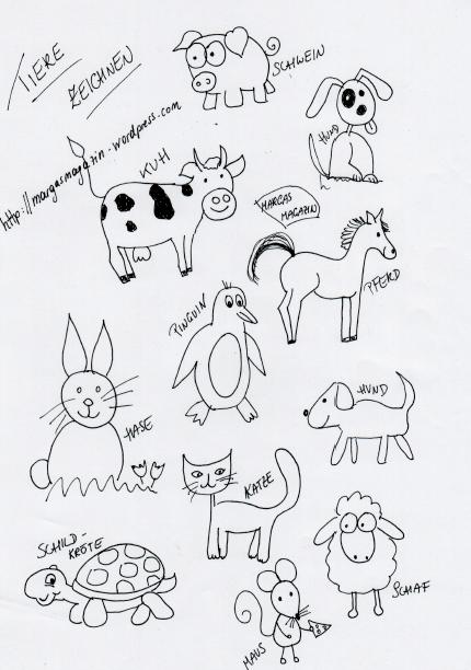 Tiere zeichnen  Margas Magazin