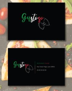 Graphiste-Margaux OBERSON-restaurant italien carte de visite
