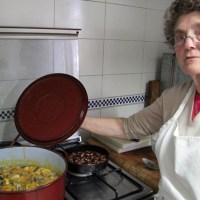 fabada con almejas/beans and clams...