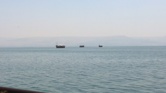 Coastline of the Sea of Galilee from the boat