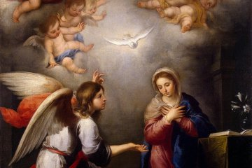 Gabriel and Mary at the Annunciation