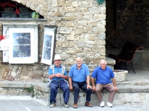 Italian men hanging out Photo by Margie Miklas
