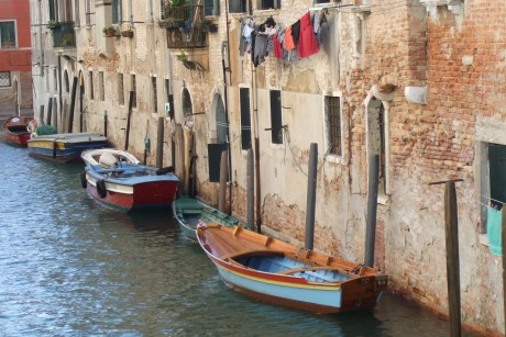 Laundry over a Venice Canal