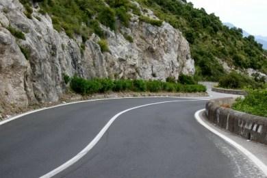 Driving on the Amalfi Coast Road