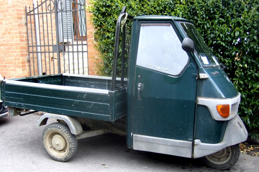 Tiny pickup truck in Italy  APE Small Trucks Margie