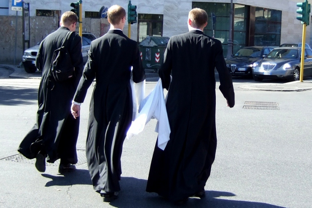Clergy on the streets near the Vatican