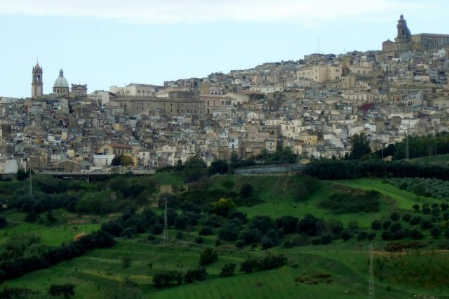 Caltagirone from a distance