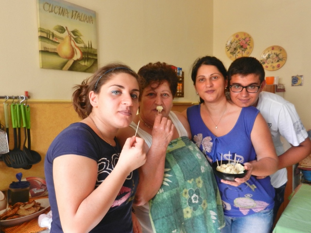 Lunch in Caltagirone with our Savoca Family
