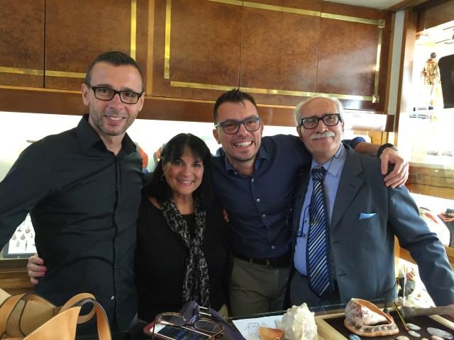 Alessio Jovon, Margie Miklas, Marco Jovon, and Giorgio - Photo by Margie Miklas