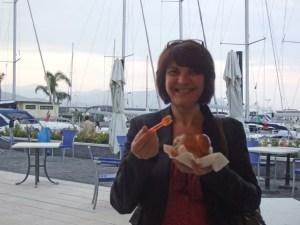 Riposto gelato with Teresa - Photo by Margie Miklas